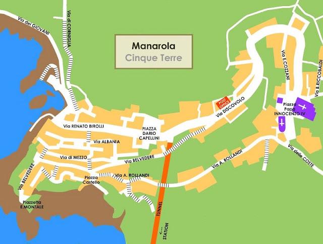 Mapa da cidade de Manarola