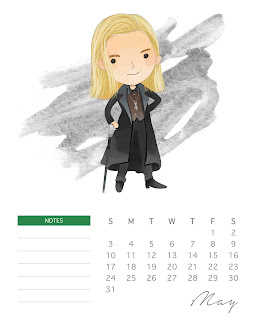 Divertido Harry Potter: Calendario 2020 para Imprimir Gratis.
