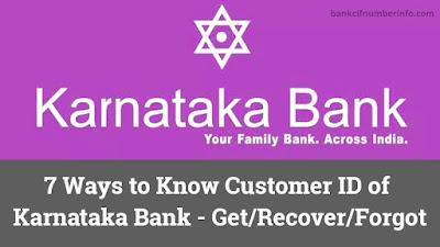 Find Karnataka Bank Customer ID