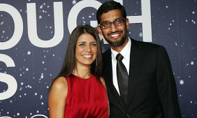 sundar pichai and wife anjali pichai