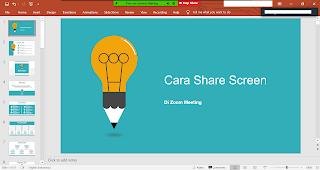 Cara Melakukan Share Screen di Zoom Meeting