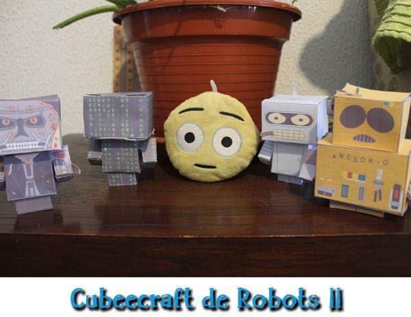 Cubeecraft de Matrix, Terminator, Bender y Cartman - Plantillas gratis