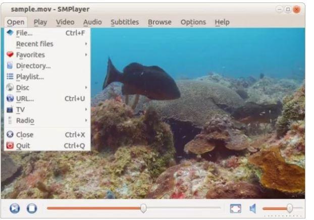 برنامج SMplayer-لينكس