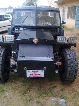 Check out jeep allegedly made in Nigeria, by a Biafran, using raw material from Biafra