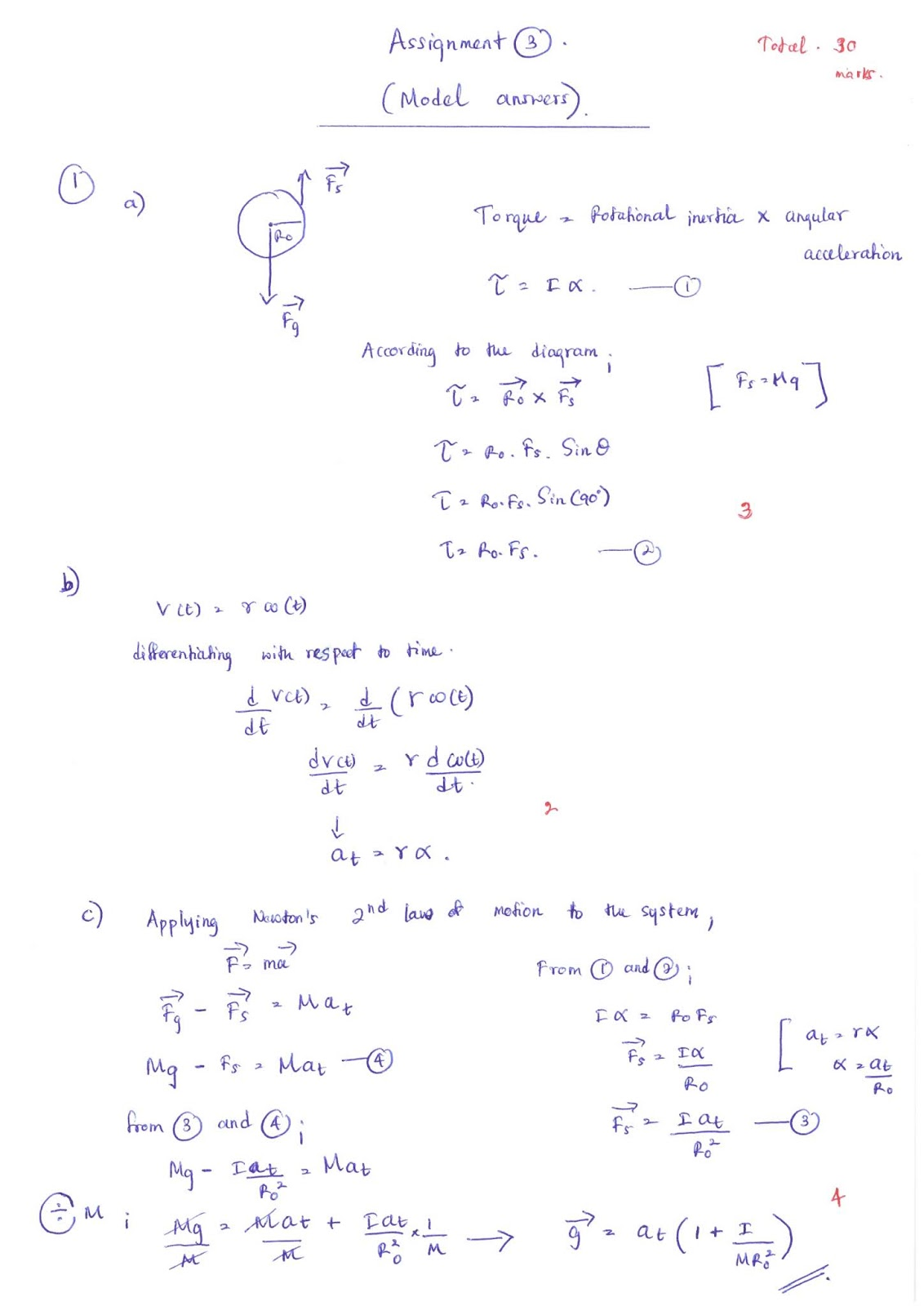 Lecture Notes In Physics Model Answers Torque