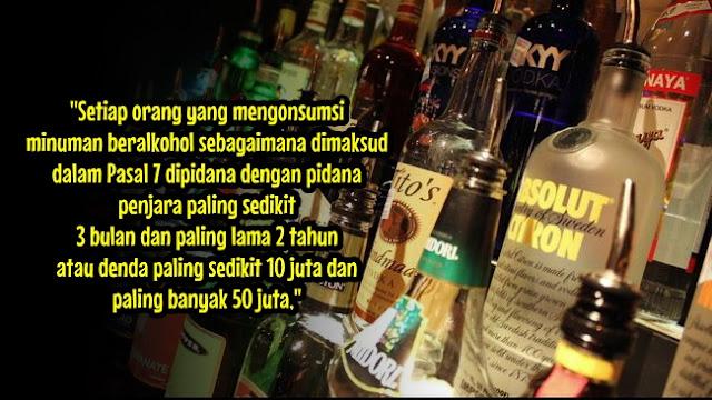 Peminum Alkohol di Indonesia Bakal Didenda 50 Juta atau Penjara 2 Tahun, Sudah ada RUU-nya