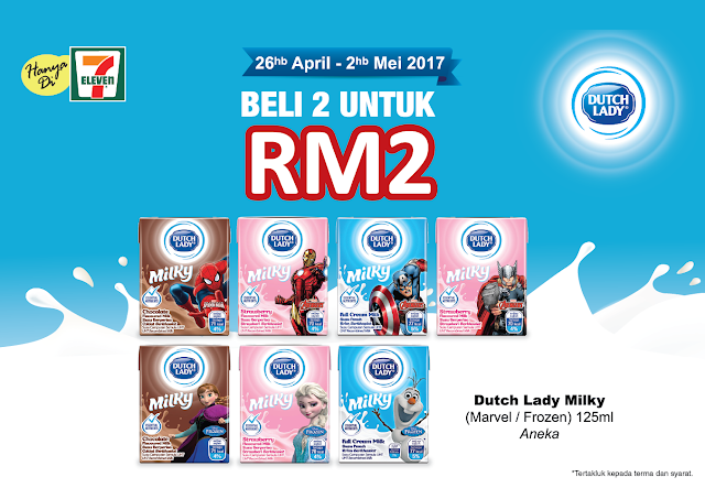 7-Eleven Malaysia Dutch Lady Milky Discount Offer Promo