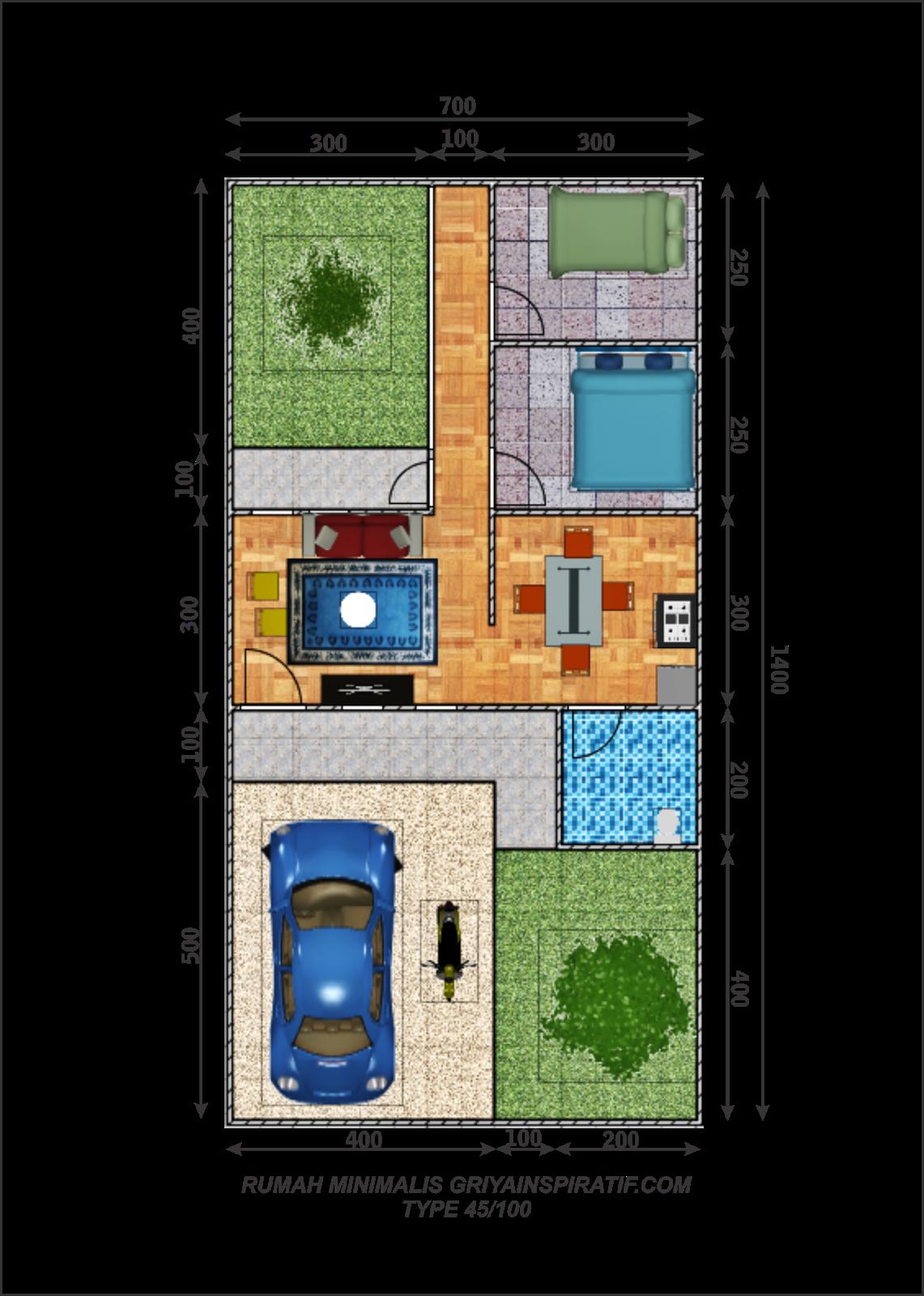 Gambar Gambar Desain Rumah Minimalis Type 45 Terbaru Desain Rumah