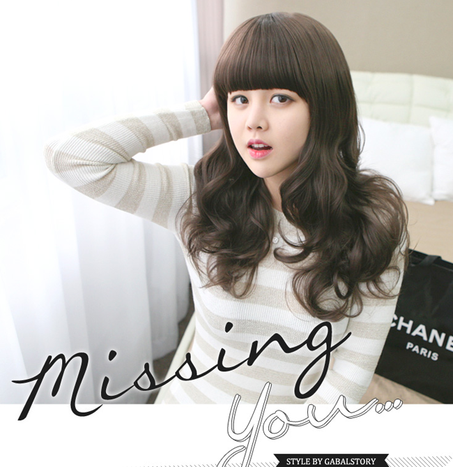 Korean Fashion Beauty Wig - Missing You Color Cinnamon Brown Model 1