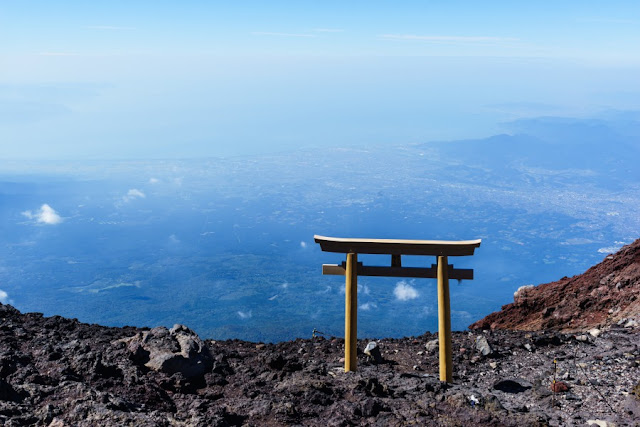 岩淵鳥居~富士山