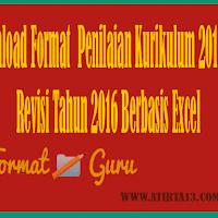 Download Format  Penilaian Kurikulum 2013 SD Revisi Tahun 2016 Berbasis Excel
