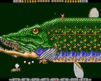 Otra captura del videojuego Apidya - Commodore Amiga