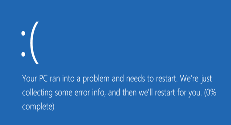 Blue Screen Pada Layar Komputer Windows 10