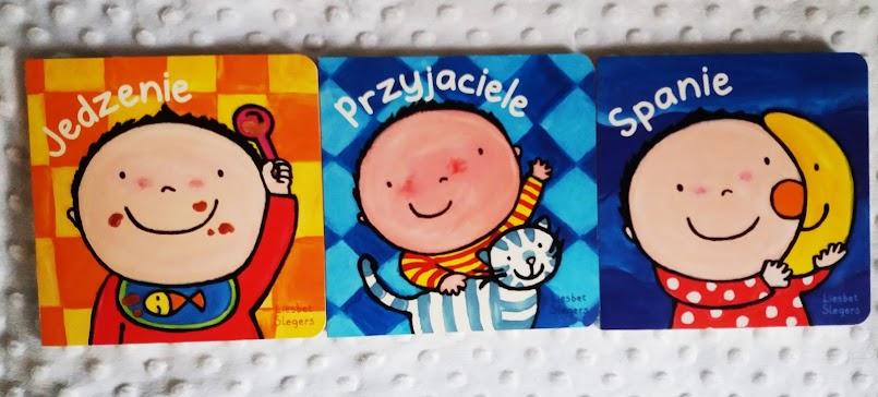 """Świetna seria książeczek dla maluchów: """"Jedzenie"""", """"Przyjaciele"""", """"Spanie"""" - Liesbet Slegers"""