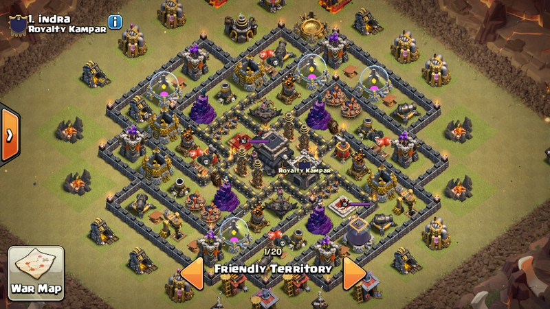 Base Coc Th 9 Pangkalan Perang 3
