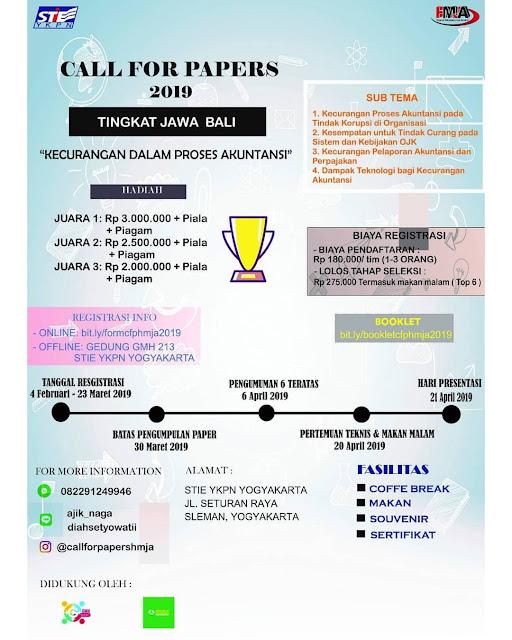 Lomba Call For Papers 2019 Mahasiswa Tingkat Jawa dan Bali