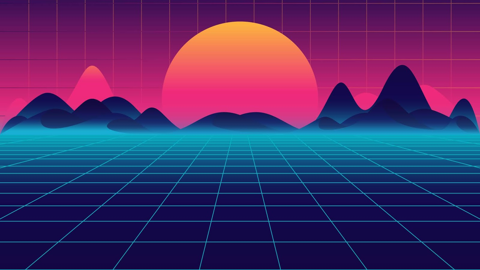 synth wave wallpaper hd