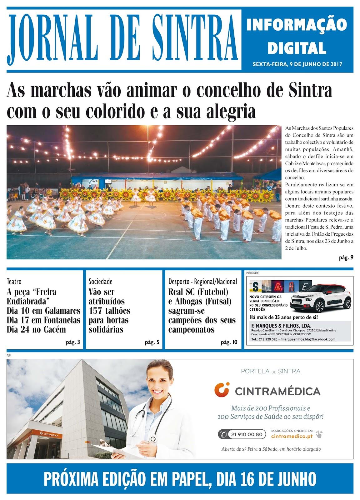 Capa da edição de 09-06-2017