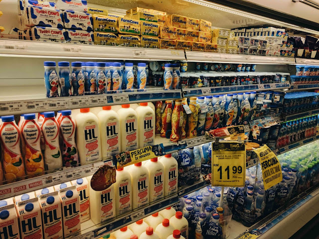Dairy Section in Supermarket