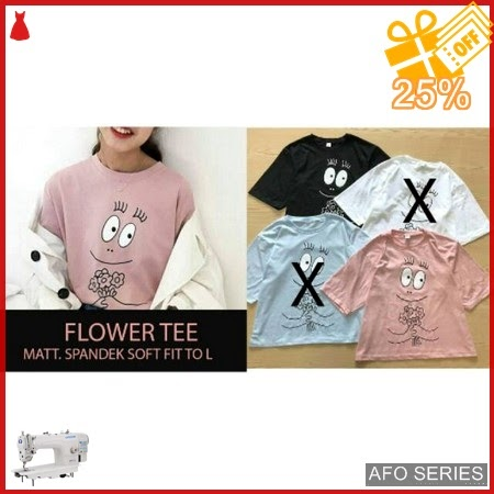 AFO571 Model Fashion Flower Tee Modis Murah BMGShop