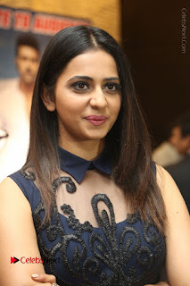 Actress Rakul Preet Singh Stills in Beautiful Blue Long Dress at Dhruva Salute to Audience Event  0024.JPG