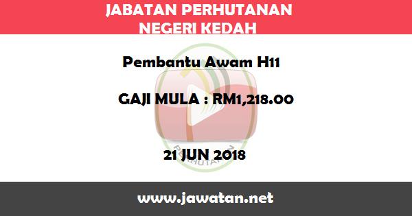 Job in Jabatan Perhutanan Negeri Kedah (21 Jun 2018)