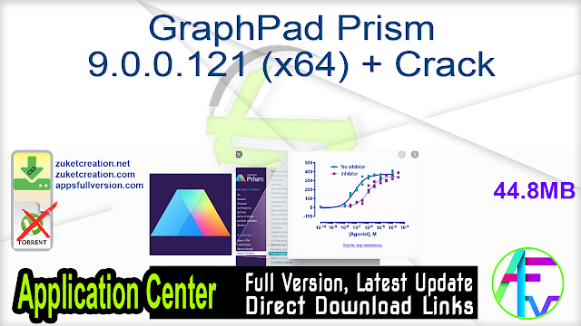 GraphPad Prism 9.0.0.121 (x64) + Crack