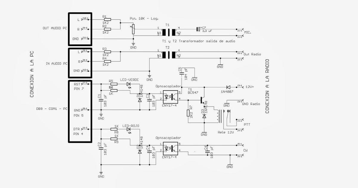 LU5HJF : Interfase para Transceptor ICOM IC-730