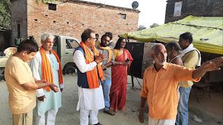 भाजपा के लिए समर्थन मांग रही पूर्व राज्यमंत्री अमरजीत मिश्र समेत मुंबई की टीम   #NayaSaberaNetwork