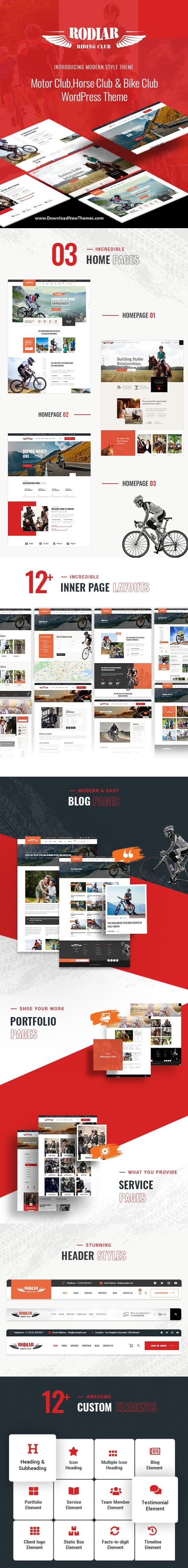 WordPress Theme for Rider's Club