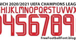 Free Football Fonts Fc Bayern Munich 2020 2021 Uefa Champions League Adidas Font