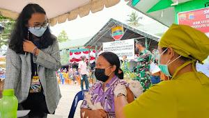 Hari I, Marianna Foundation dan Kodam I/BB Berhasil Vaksin 1500 di Samosir
