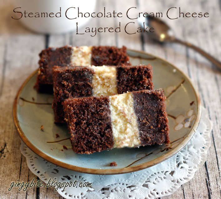 Steamed Chocolate Cheese Layer Cake