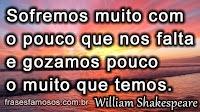 Texto de William Shakespeare sobre o Sofrimento