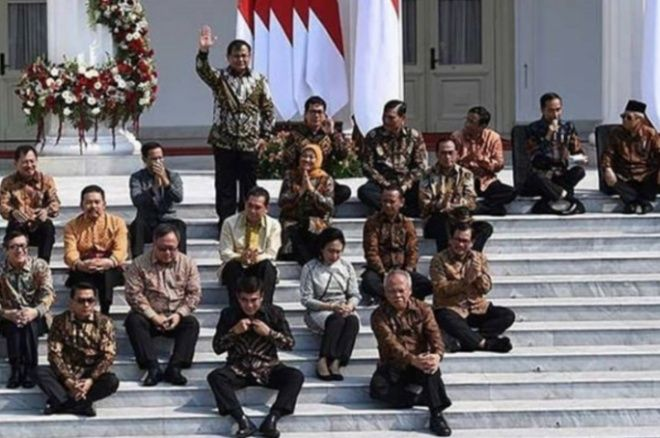 Daftar Lengkap Nama-nama Menteri dalam Kabinet Jokowi-Ma'ruf Beserta Posisinya