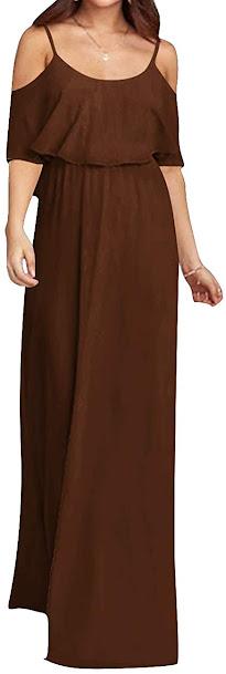 Luxury Brown Chiffon Bridesmaid Dresses