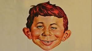 Obrazek przedstawiający twarz maskotki MAD Magazine, Alfreda E. Neumana