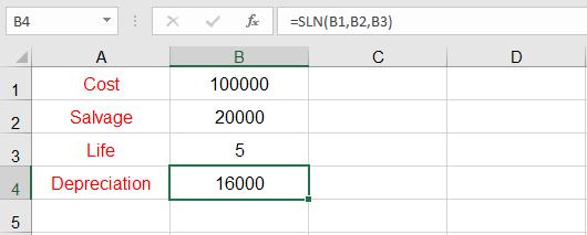 اهلاك الأصول الثابتة في Excel