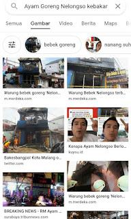 Berita Kebakaran Ayam Goreng Nelongso