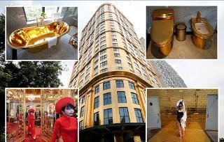 Vietnam opens world's 'first' gold-plated hotel (photos)