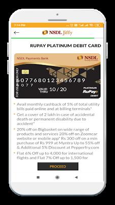 NSDL Payment Bank platinum debit card apply online