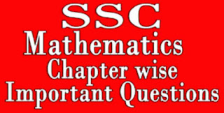 SSC Maths Important Questions PDF