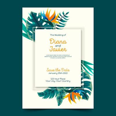 Download template undangan floral gratis