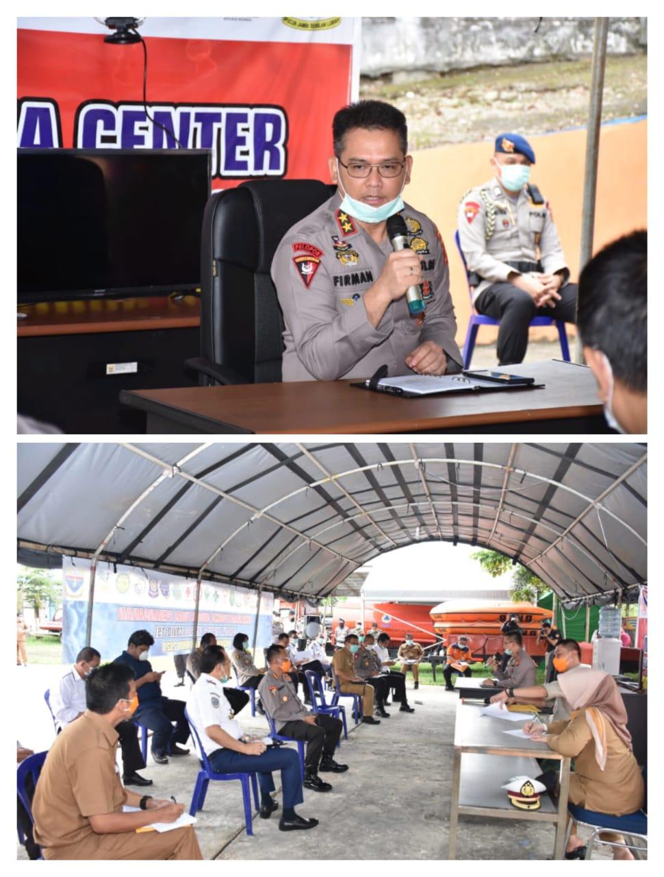 Kapolda Jambi Sambangi Sekaligus Memberikan Briefing Di Posko Gugus Tugas Penanganan Covid-19 Provinsi Jambi