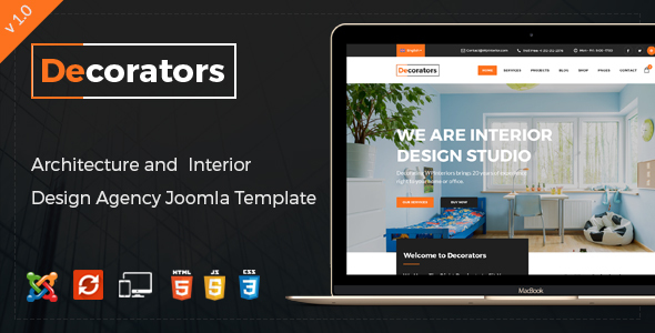 Decorators – Joomla Template for Architecture & Modern Interior Design Studio