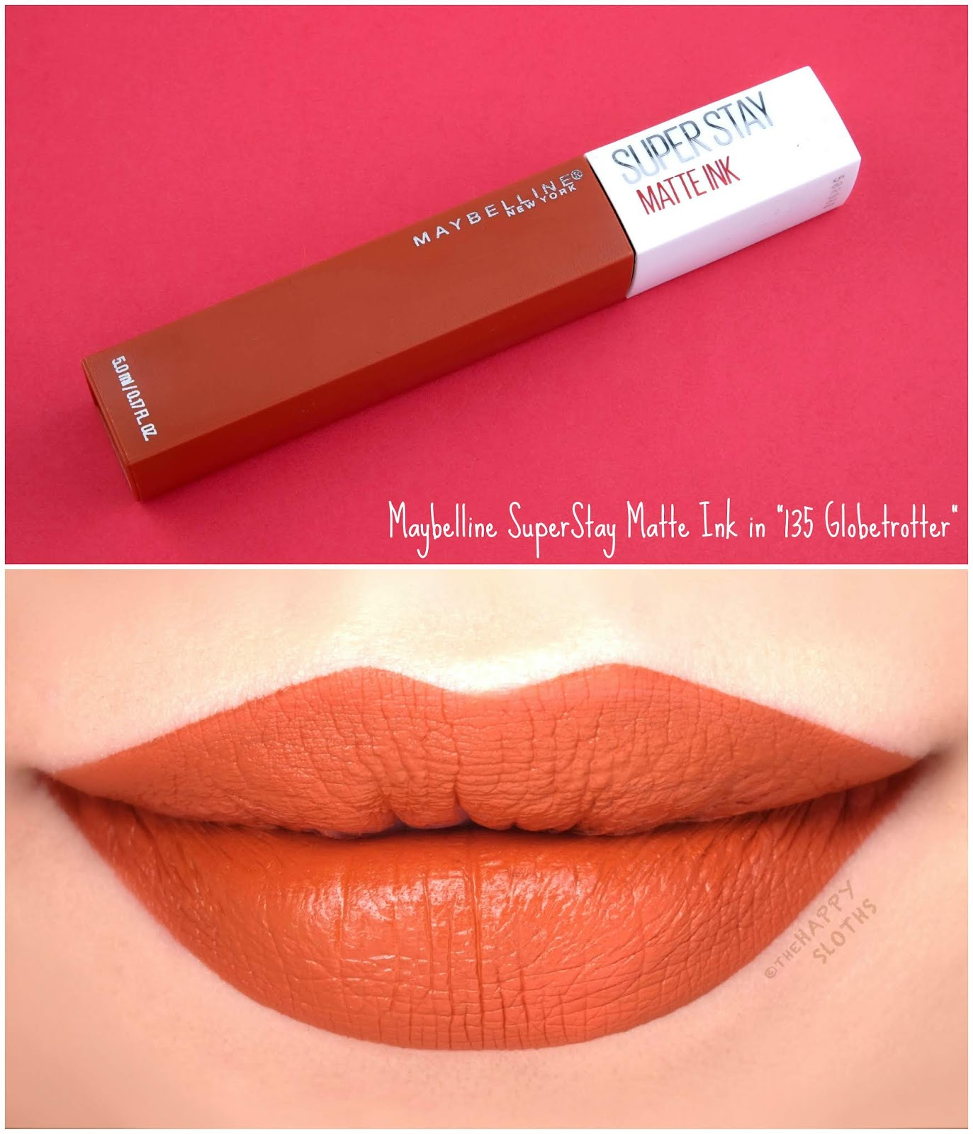 "Maybelline | SuperStay Matte Ink City Edition in ""135 Globetrotter"": Review and Swatches"