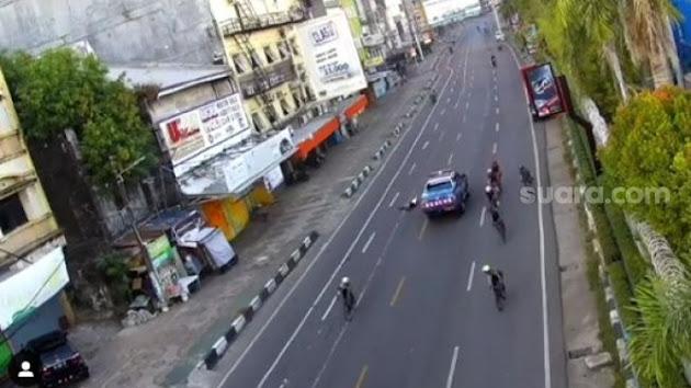 Inilah Detik-Detik Mobil Rescue Kementerian Sosial RI Dengan Nomor Polisi B 9551 PSD Tabrak Lari Rombongan Pesepeda Terekam CCTV