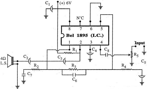 Using BEL1895 I.C Amplifier Circuit Diagram