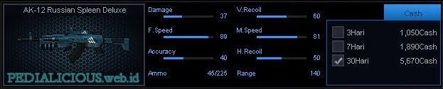 Detail Statistik AK-12 Russian Spleen Deluxe