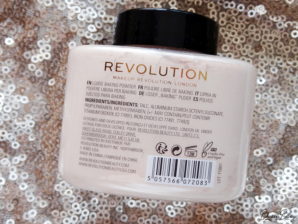 puder do bakingu Makeup Revolution Loose Baking Powder Lace